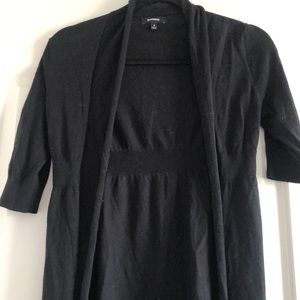 Express Black Open Front Sweater